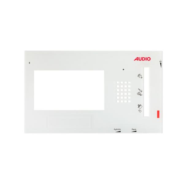 Audio 021455A 4,3 inç Beyaz Cam Kapak