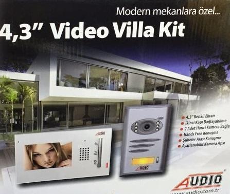 Audıo 4,3″ Görüntülü Villa Kit Set