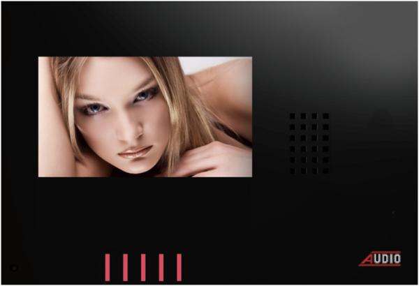 Audio Görüntülü Diafon 4,3″ Style Dokunmatik Butonlu (Siyah) 001160