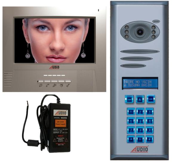Audio Görüntülü Diafon Gdm 7 İnç  2 Daire Paket 001731