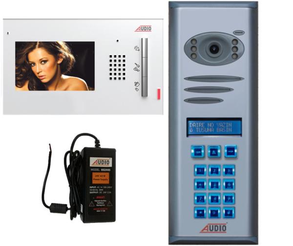 Audio Görüntülü Diafon Gdm 4,3″ 17 Daire Paket Fiyatı 001105