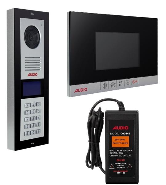 Audio Görüntülü Diafon 2 Daire 4,3″ Lcd 001180 Paket